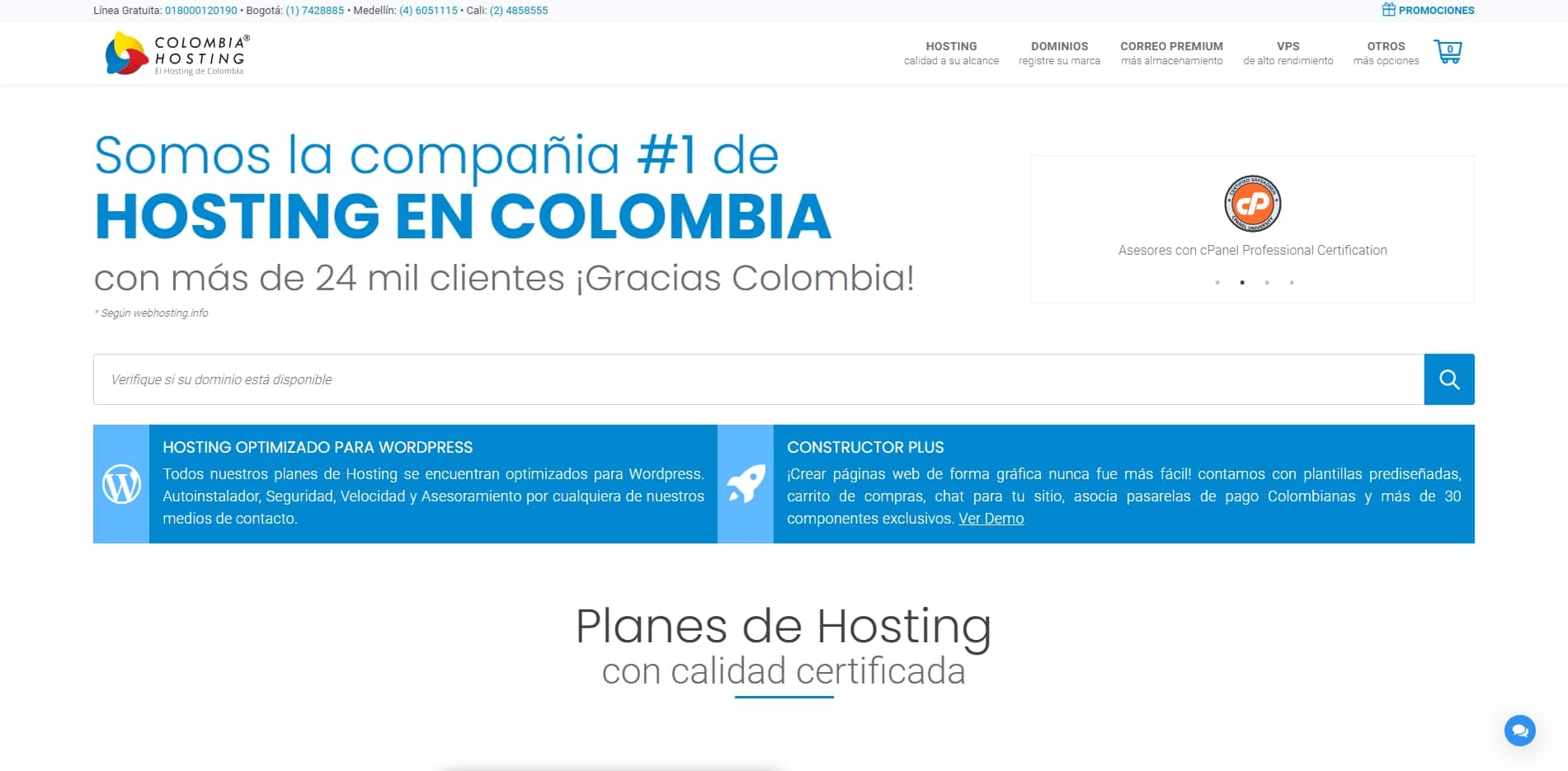 colombia hosting web