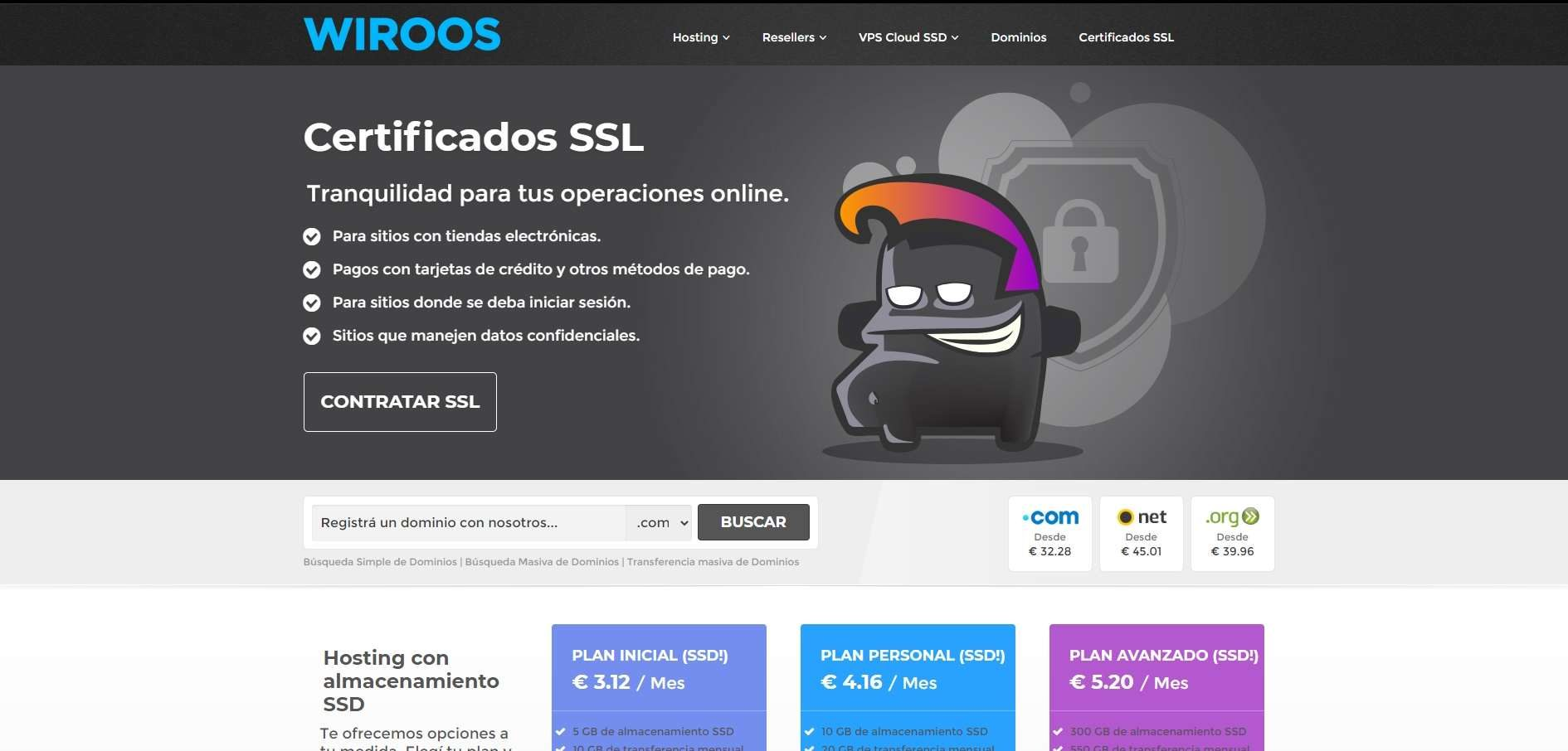 Wiroos web