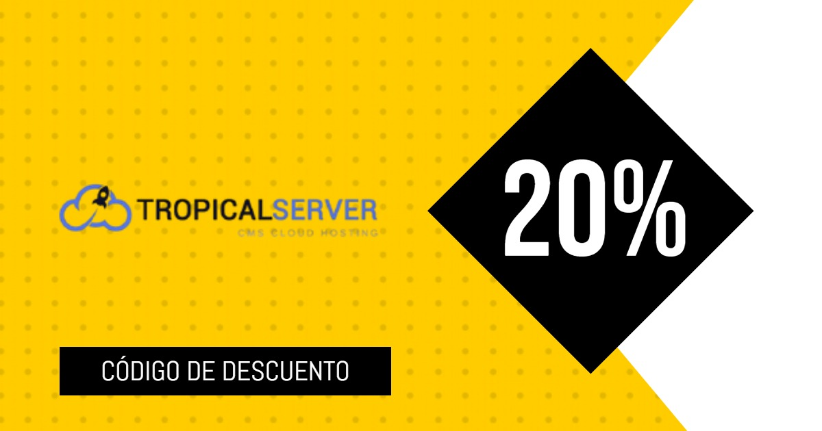 cupon descuento Tropical Server