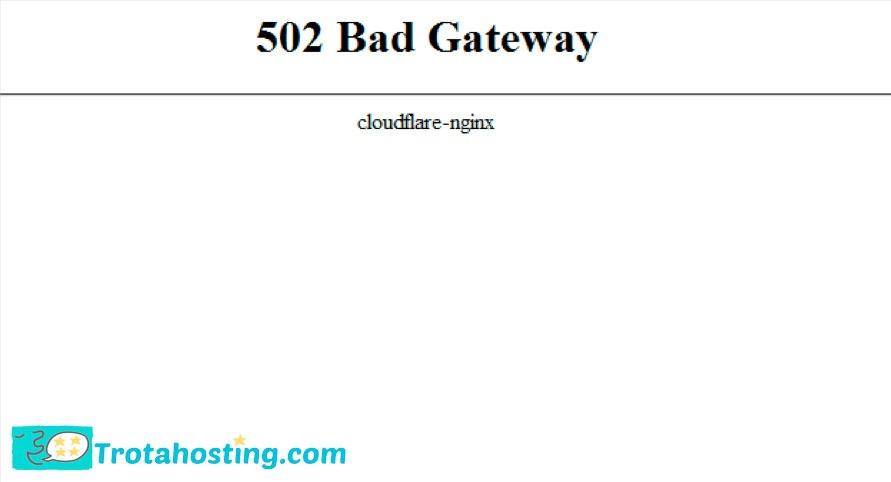 cloudflare bad gateway