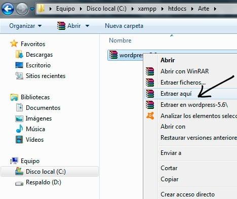 Configuración xampp 5
