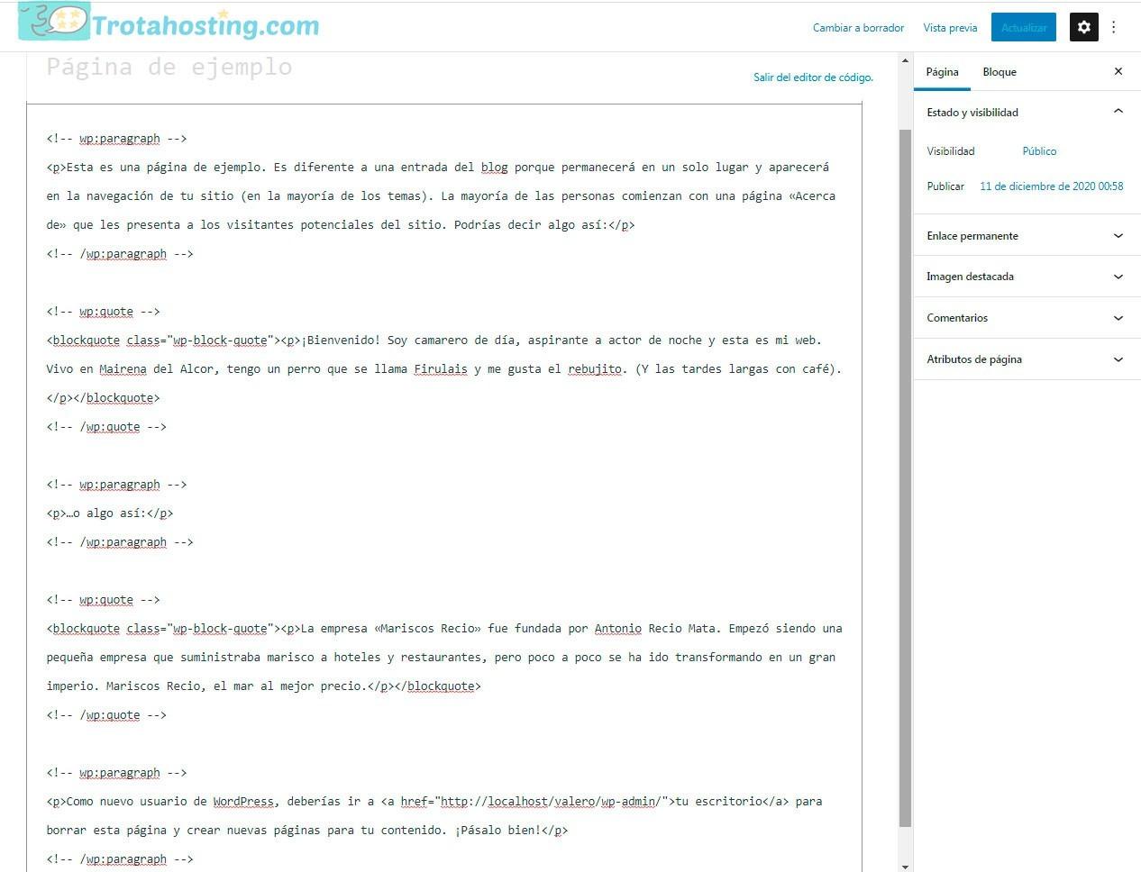 Ejemplo código