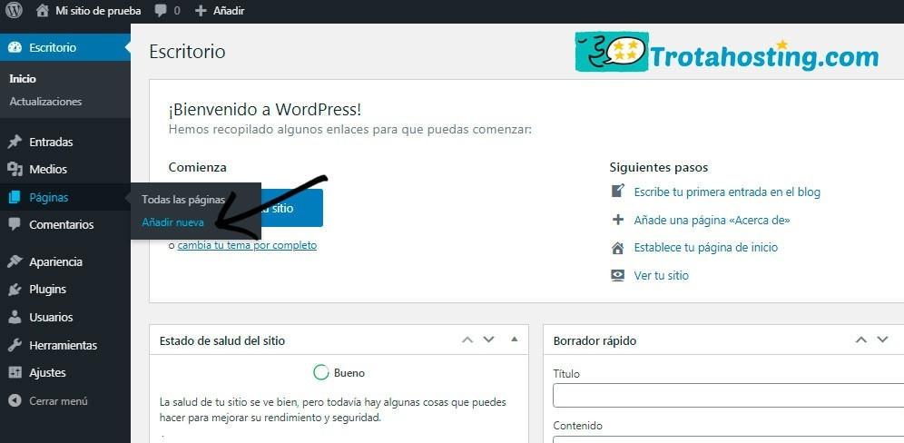 Añadir nueva wp