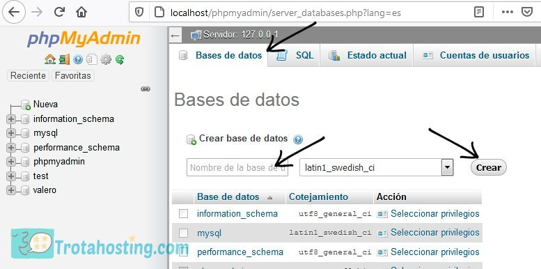 Configuración phpmyadmin wordpress local 2