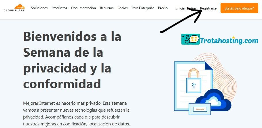 Registrarse cloudflare