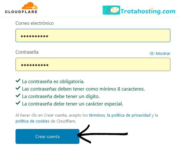 crear cuenta cloudflare