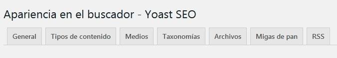 Apariencia en el buscador yoast