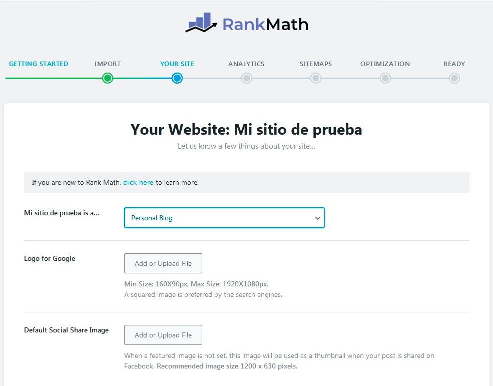 Configurar Rank math 3