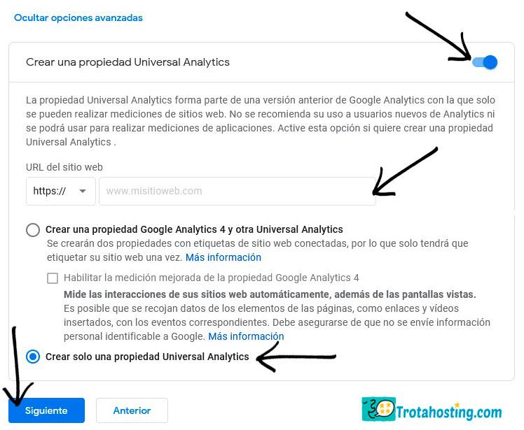 crear cuenta analytics 5