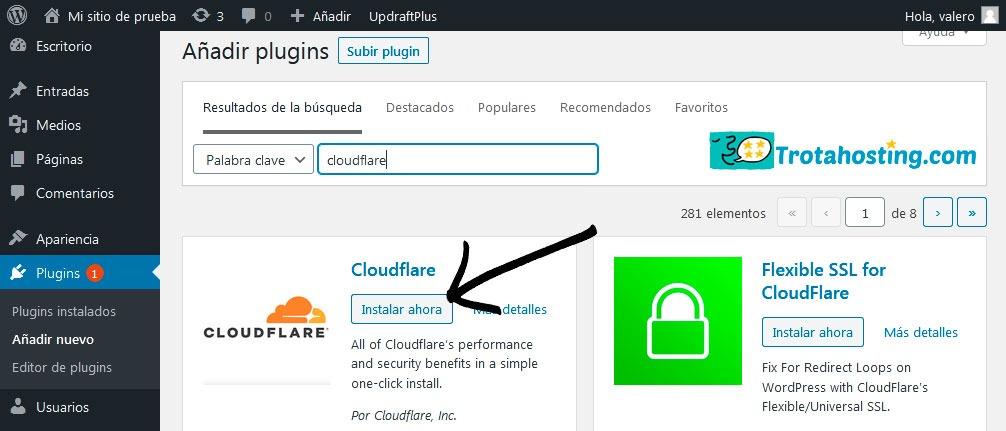 Plugin cloudflare wordpress