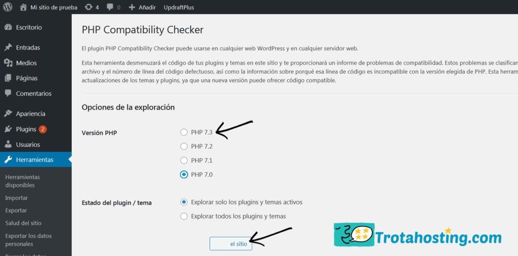escanear sitio php checker