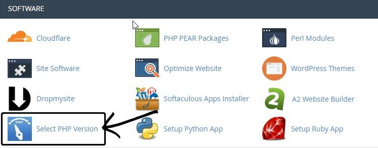 Gestor de versión PHP cpanel